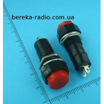 Кнопка PBS-14B середня, без фіксації OFF-(ON), 2 pin, 1A/250V, червона