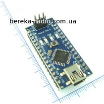 Arduino Nano V3.0 ATmega328 з FT232RL і шнуром USBA-mini USB, 43x18x18mm