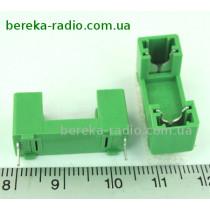 Тримач запобіжника 5x20mm ZHL78 растр 22.6mm (з кришкою ZHL7X-H, зелений)
