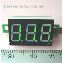 Вольтметр без корпусу 0.36`` DC 4.5-30V зелений 3-х цифр. інд.