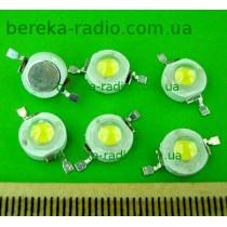 1W, білий теплий, 1WSA30, 3050-3250K, 80-90lm, 110-140*, 3.0-3.4V/300mA, без радіатора, SDL