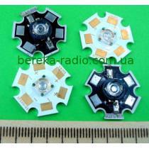 1W, синій, BSB-0.35-1, 460-470nm, 10.7lm min, 150-190*, 3.0-3.8V/350mA, з радіатором, Optoflas