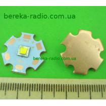 10W, білий, XM-L, 6000K, 300-375lm, 125*, 3.2-3.8V/300-3000mA, мідний радіатор 20mm, CREE