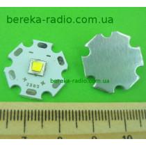 10W, білий теплий, XM-L, 3000K, 300-975lm, 125*, 3.2-3.8V/300-3000mA, Al радіатор 20mm, CREE