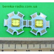 15W, білий теплий, MK-R, U=6V, 3200K, 900-1200lm, 120*, 6-7V/1400-2500mA, мідний радіатор 20mm, ETI-