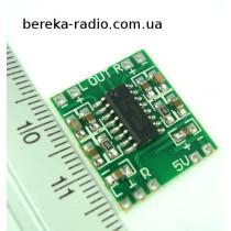 Підсилювач класу D 2x3W на мікросхемі PAM8403, Uживл=2.5-6.4V