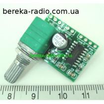 Підсилювач класу D на мікросхемі PAM8403 з потенціометром GF1002