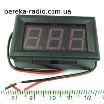 Вольтметр в корпусі 0.56`` DC 4.5-30V червоний 3-х цифр. інд.