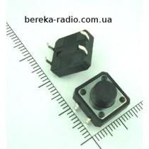 Тактова кнопка 4pin 12x12x6.5mm, шток 3.0mm /China