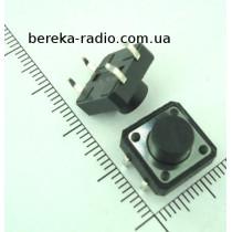 Тактова кнопка 4pin 12x12x7.0mm, шток 3.5mm /China