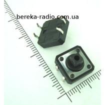 Тактова кнопка 4pin 12x12x7.3mm, шток 3.8mm /China