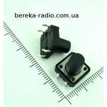 Тактова кнопка 4pin 12x12x11.5mm, шток 8.0mm /China
