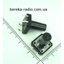 Тактова кнопка 4pin 12x12x17mm, шток 13.5mm /China