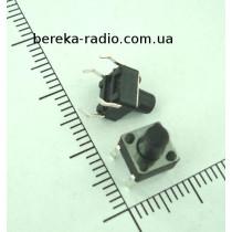 Тактова кнопка 4pin 6x6x7.5mm, шток 4.0mm /China