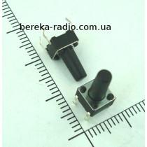 Тактова кнопка 4pin 6x6x11.0mm, шток 7.5mm /China