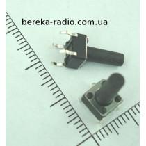 Тактова кнопка 4pin 6x6x13.0mm, шток 9.5mm /China