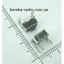 Тактова кнопка бокова 4pin 6x3x5.0mm, шток 1.5mm /China