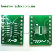 Плата перехідник SO16, TSOP16 --~ DIP16