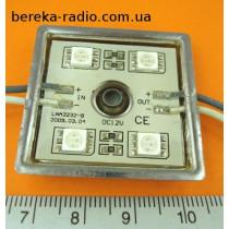 Світлодіодний модуль 4x3528 червоний вологозах самокл  (36*36*4.4)