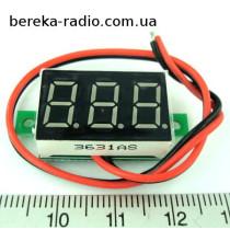 Вольтметр без корпусу 0.36`` DC 0-100V червоний, 3-х цифр. інд.