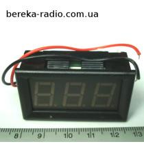 Вольтметр в корпусі 0.56`` AC 30-500V зелений 3-х цифр. інд.