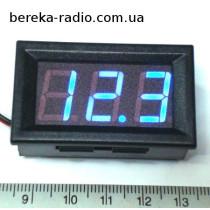 Вольтметр в корпусі 0.56`` DC 4.5-30V синій 3-х цифр. інд.