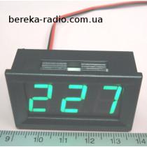 Вольтметр в корпусі 0.56`` AC 70-500V зелений 3-х цифр. інд.