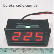 Вольтметр в корпусі 0.56`` AC 70-500V червоний 3-х цифр. інд.