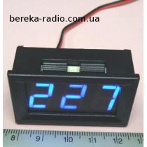 Вольтметр в корпусі 0.56`` AC 70-500V синій 3-х цифр. інд.