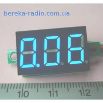 Вольтметр без корпусу 0.36`` DC 0-40V синій 3-х цифр. інд.