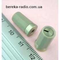 Ручка сіра на вал 3 мм кругла з боковою фіксацією