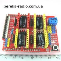 Плата розширення CNC V3 для Arduino Uno (встановлення до 4-х драйверів A4988 або DRV8825)
