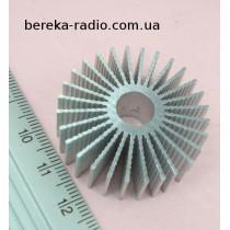Радіатор для світлодіода 3-7W, 36x12.5mm, отвір 9mm