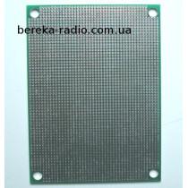 Плата макетна двохстороння 60x80mm FR4 з металізацією, крок 1.27 мм