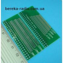 Плата макетна двохстороння, адаптер DIP-46 на LCD, TFT індикатори з металізацією і маскою