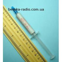 Паста теплопровідна КПТ-19 (шприц 20 г, алюмінієва, сіра)
