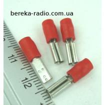 ST-002/R (клема гніздо 2.8 x 0.5mm, 0.5-1.0mm2, червона) KLAUKE
