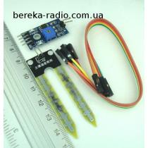 Датчик вологи грунту для Arduino YL-38 + YL-69, Ucc=3.3-5V (модуль 7)