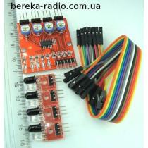 Датчик оптичний 4-х канальний світлодіод-фотодіод для Arduino YL-70 + YL-73, Ucc=5V (дальніст