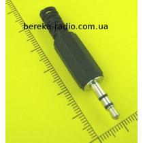 Штекер 3.5mm стерео, пластиковий корпус