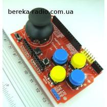 Джойстик з кнопками для Arduino Joystick Shield, Ucc=3.3-5V, (4 великі кольорові кнопки і джойстик з