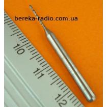 Сверло твердосплавне d=0.85mm Union Tool (хв. 3.175, роб. частина 10mm)