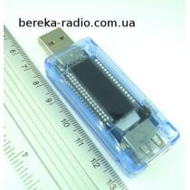 USB тестер KWS-V20 з LCD інд. (вольтметр, амперметр, ємність батареї)