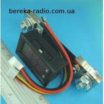 Вольтметр амперметр 0.28`` DC 0-100V/100A з шунтом (червоний індикатор)