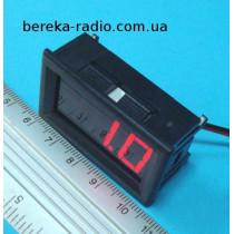 Вольтметр в корпусі 0.56`` DC 5-120V червоний 3-х цифр. індикатор
