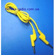 Шнур для тестера банан-банан розгалужуючий жовтий, 1m
