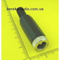 Гніздо живлення DC 5.5x2.1mm під кабель, пластиковий корпус