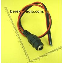 Гніздо живлення DC 5.5x2.1mm з кабелем 0.3м