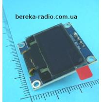 Графічний кольоровий LCD OLED 0.96`` 128x64 білі символи