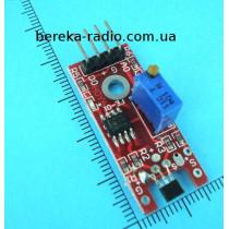 Датчик Холла KY-024 для Arduino на SS49E лінійний, Uc3.3-5V, магнітний датчик